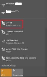 connect to jionet public wifi hotspot