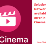 solve network not available in Jio cinema app