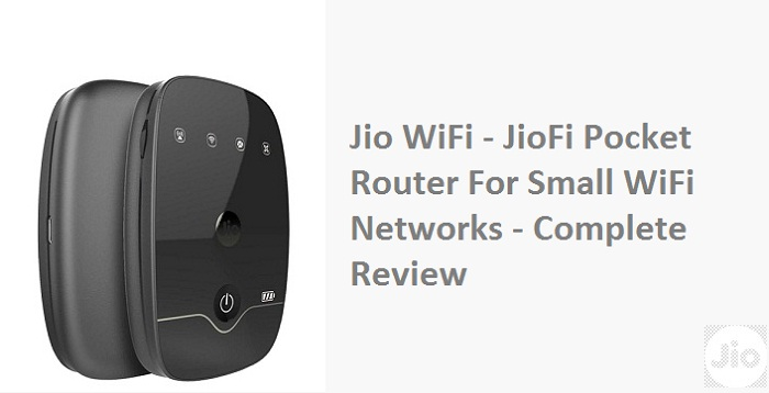 jio wifi router review