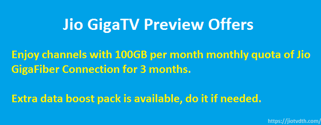 jio giga tv plans and offers