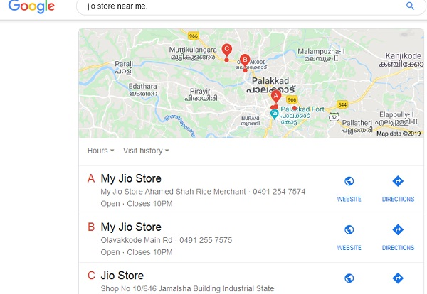 nearby jio store